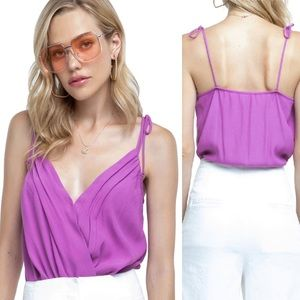 Astr Marlow Bodysuit Purple Orchid